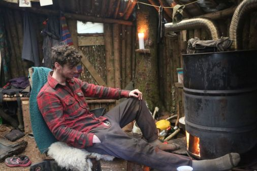 Rob chilling by my fire